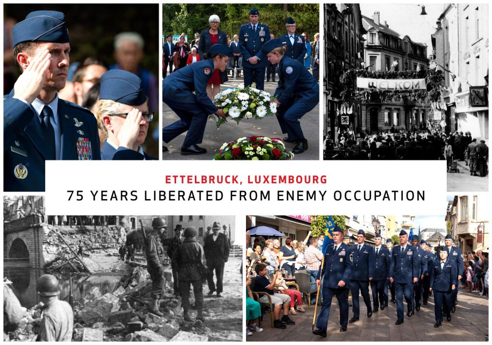 Airmen celebrate 75th anniversary of liberation of Ettelbruck