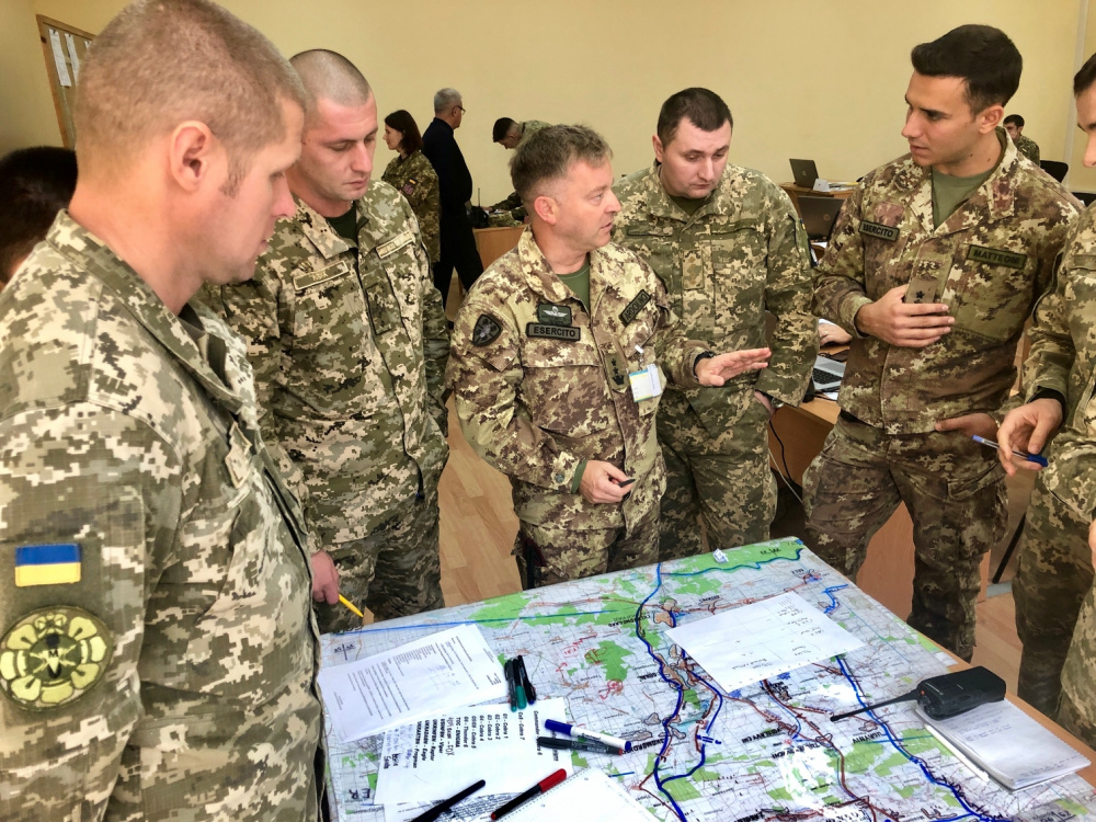 U.S. and Italian Forces Join Multinational Staff Officer Course in Kyiv, Ukraine