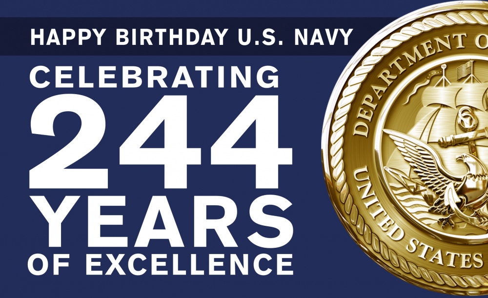 Graphic celebrates the U.S. Navy's 244th birthday