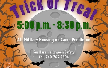 Marine Corps Base Camp Pendleton Halloween Trick or Treat Hours
