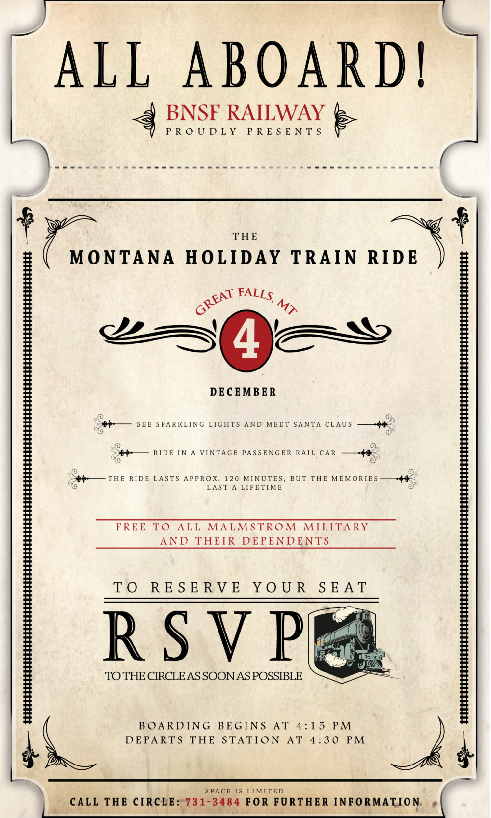Montana Holiday Train Ride Poster 2019