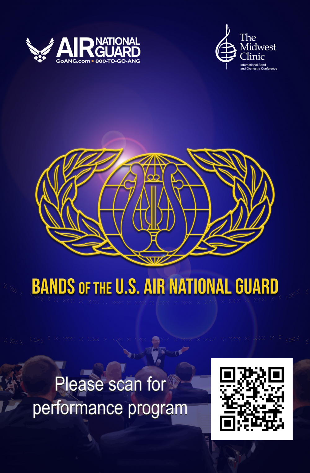 ANG Bands at Midwest Clinic 2019 COMREL poster