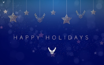 Air Force Happy Holidays Graphic