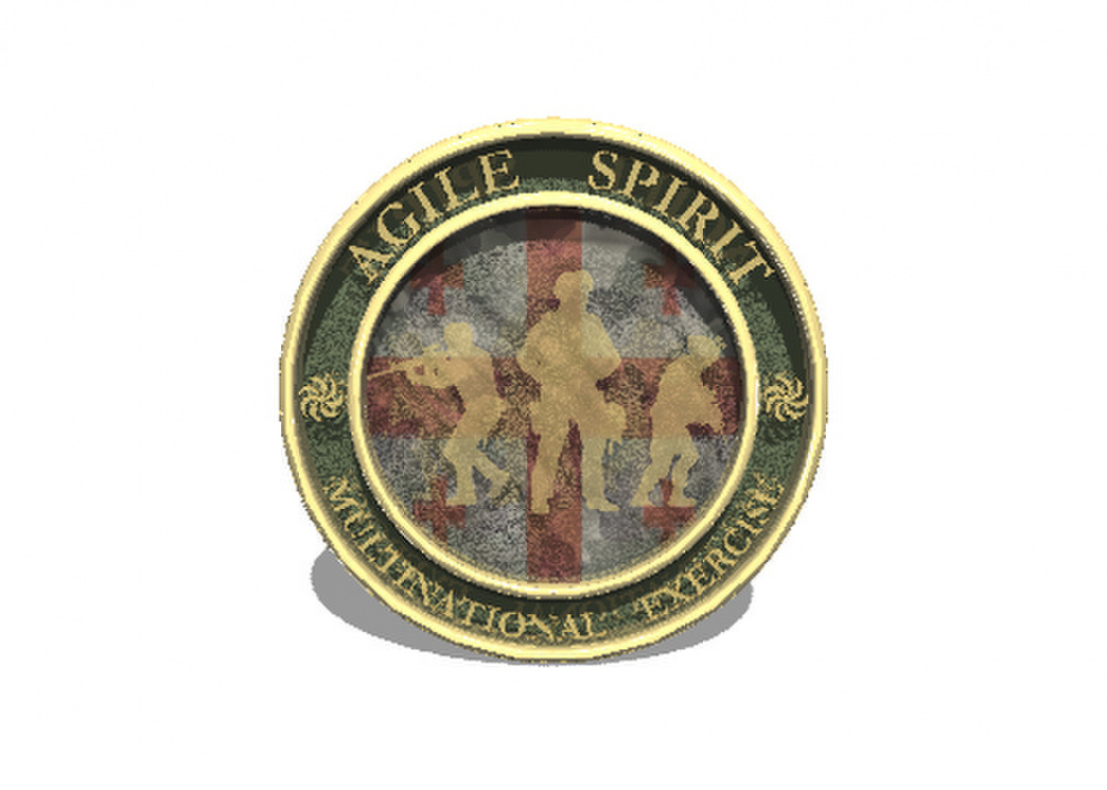 Agile Spirit 3D Coin Model