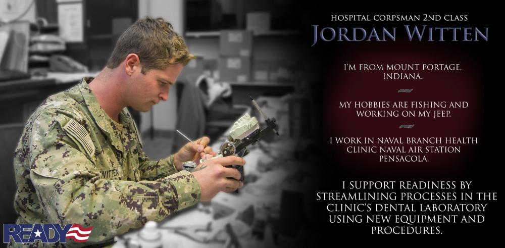 Hospital Corpsman 2nd Class Jordan Witten Readiness Focused