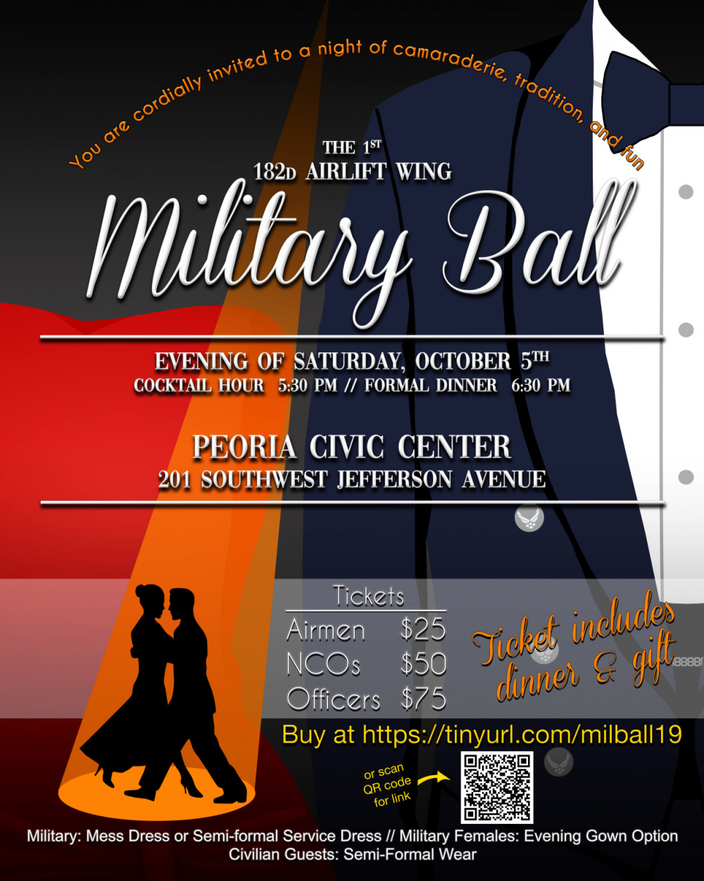 182nd Airlift Wing Military Ball 2019 promotional poster