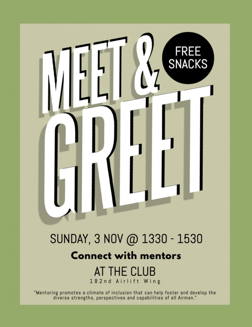 Mentorship Meet & Greet (Nov. 3, 2019) promotional poster