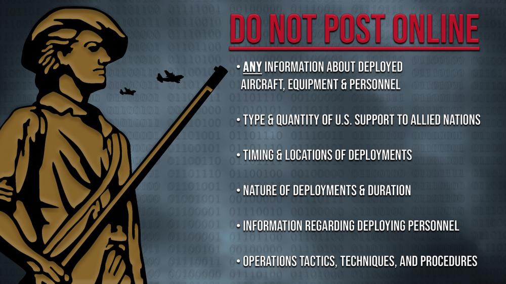 Notice: Do not post deployment info online
