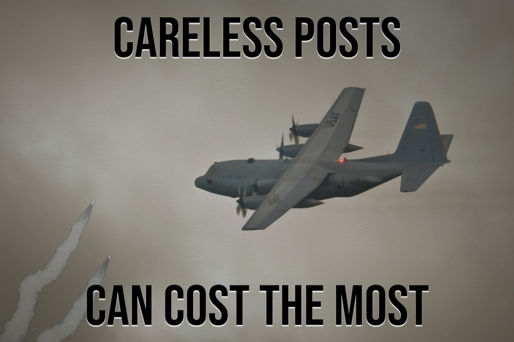 Careless posts can cost the most