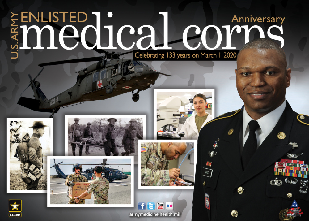U.S. Army Enlisted Medical Corps Anniversary Poster-Digital TV
