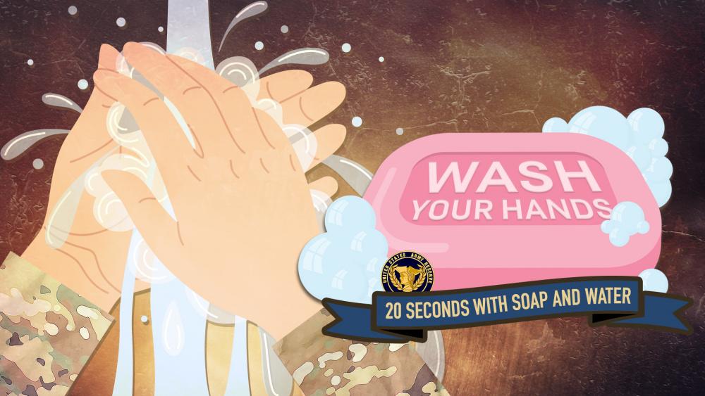 U.S. Army Reserve Graphic: Hand Washing