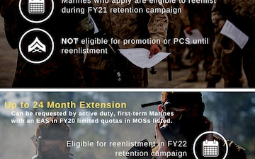 Optional Extensions Infographic for First-Term Marines