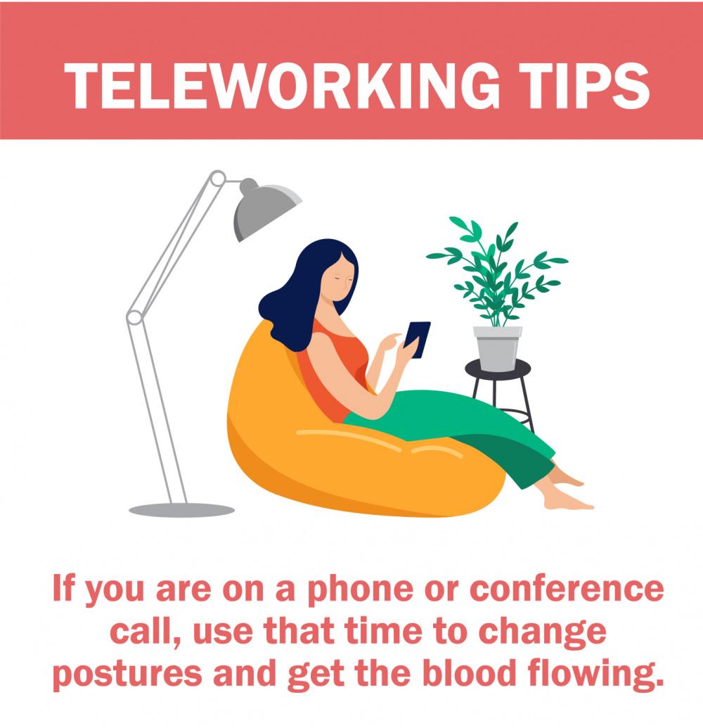 Teleworking infographics
