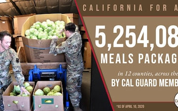 Cal Guard surpasses 5 million meals distributed during COVID-19 pandemic