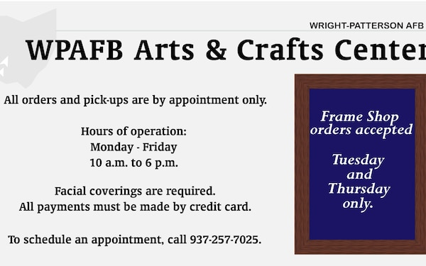 COVID-19 WPAFB Arts and Crafts Center Announcement