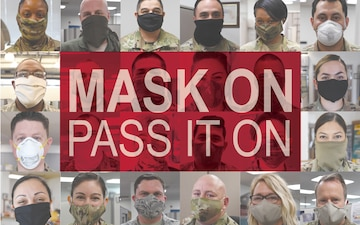 Mask On Pass It On  square graphic