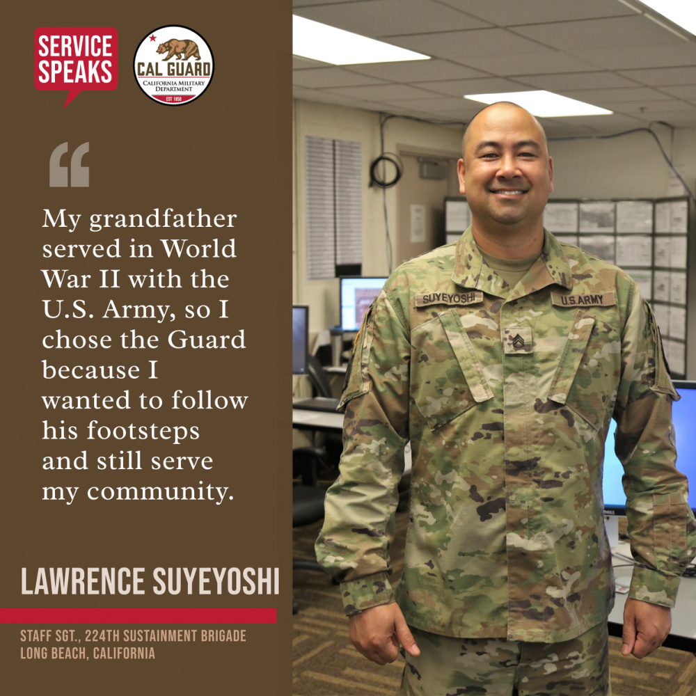 Service Speaks: Staff Sgt. Lawrence Suyeyoshi