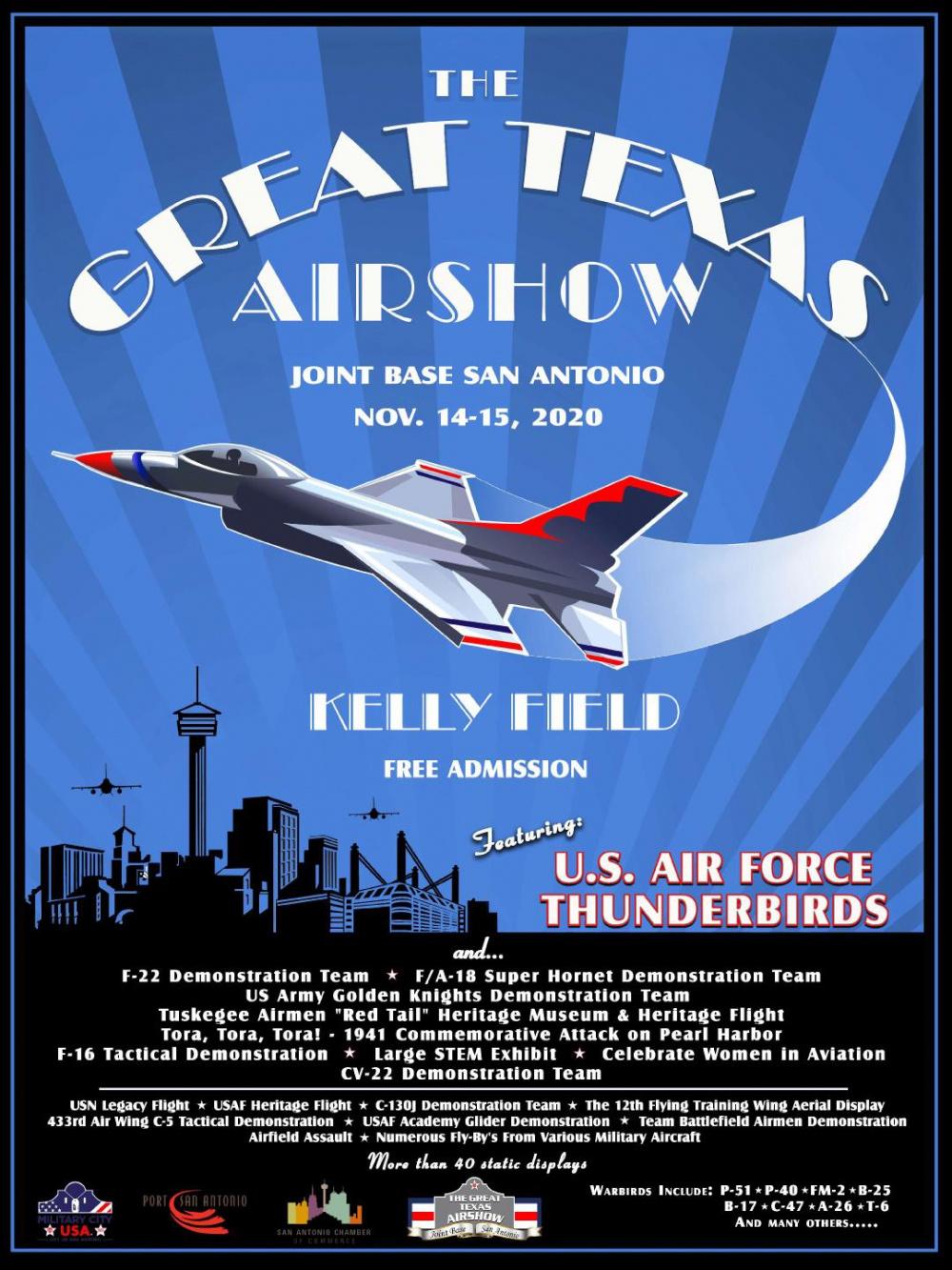 JBSA Great Texas Airshow Poster