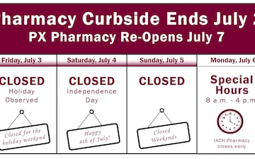 Irwin Army Community Hospital curbside service ends July 2