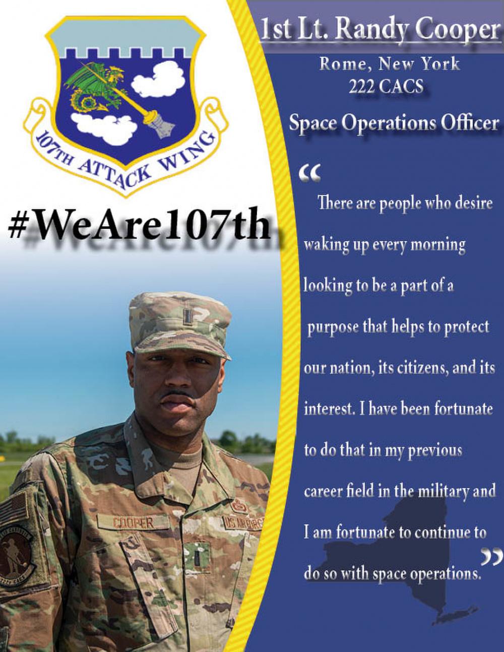 #WeAre107th: 1st Lt. Randy Cooper