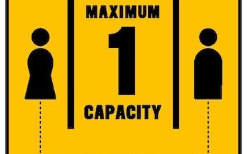 MAX Capacity Sign