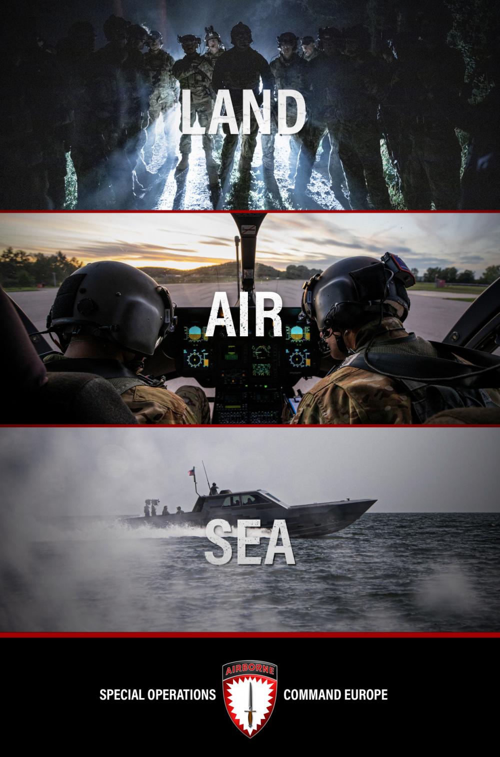 Land. Air. Sea.