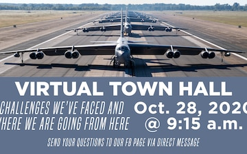 Barksdale Virtual Town Hall Graphic