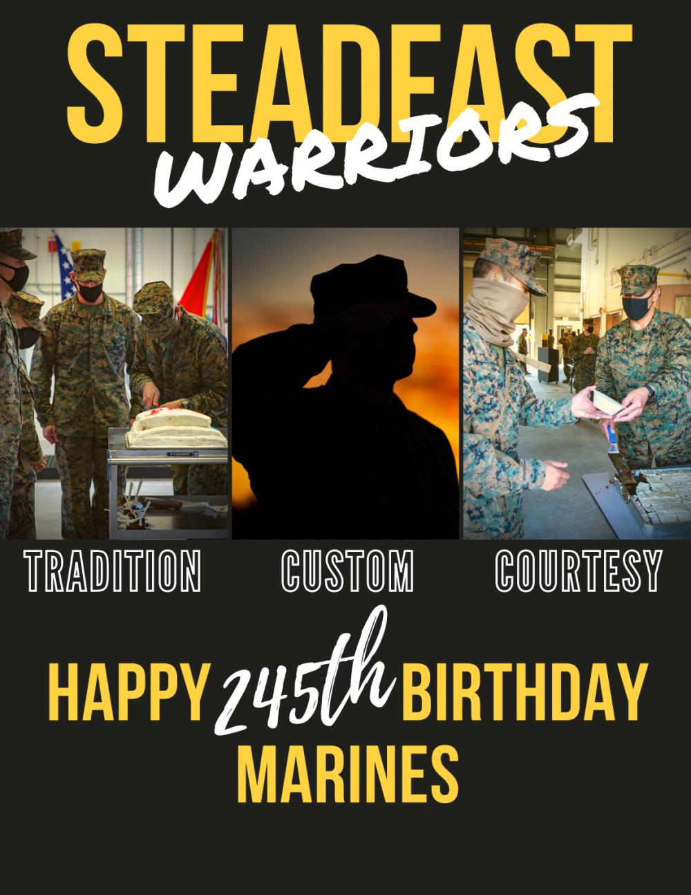 CLR-27 Steadfast 245th Marine Corps Birthday Flyer