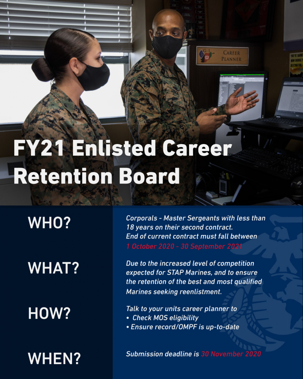 FY21 Enlisted Career Retention Board