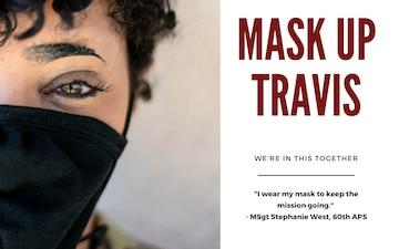 Mask up Travis