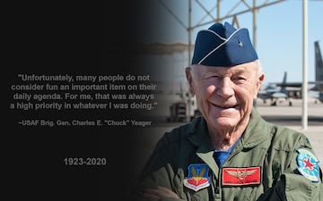 """Rest in Peace Brig. Gen. Charles E. """"Chuck"""" Yeager"""