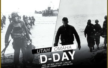 1st SBCT, 4th Inf. Div. D-Day graphic