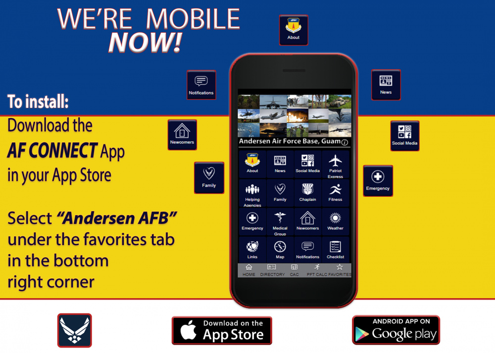 Andersen AFB AF Connect App graphic