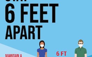 Be Smart. Stay 6 Feet Apart.
