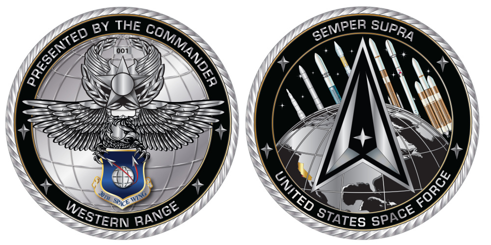 30th Space Wing Commander's Coin