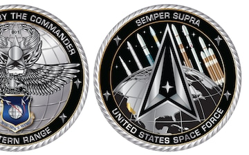 30th Space Wing Commander's Coin - Identity Design