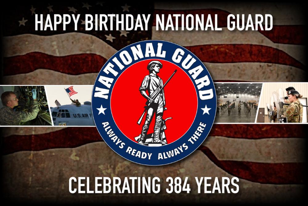 National Guard Happy Birthday Graphic 2020