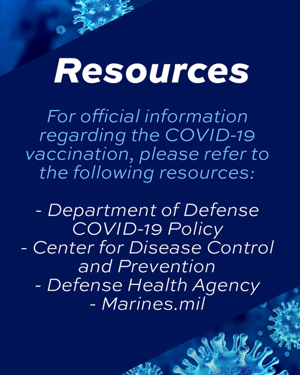 Camp Pendleton COVID-19 Vaccine Graphic