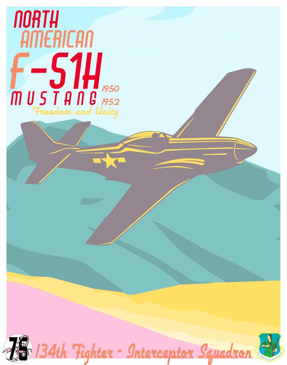 134th FS Celebrates 75th Anniversary with 1950s Artwork
