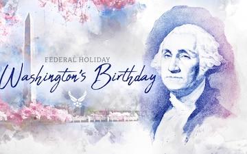 Washington's Birthday - federal holiday graphic