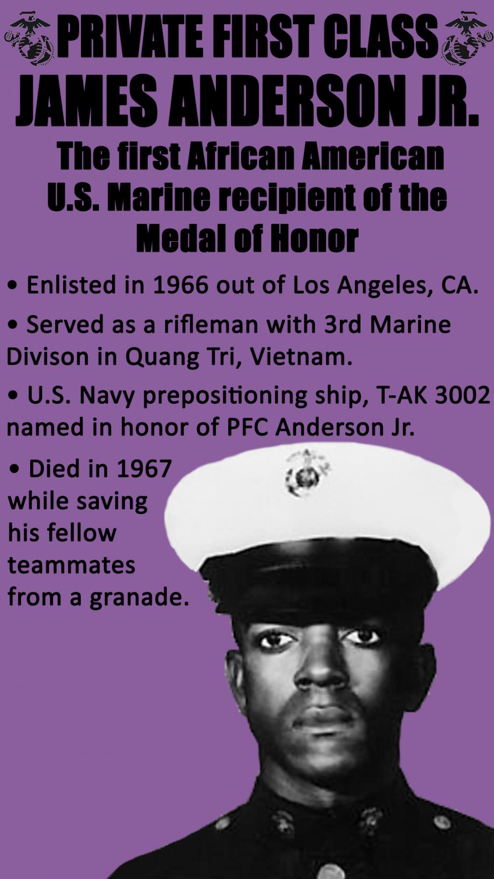 Black History Month - Pfc. James Anderson Jr.