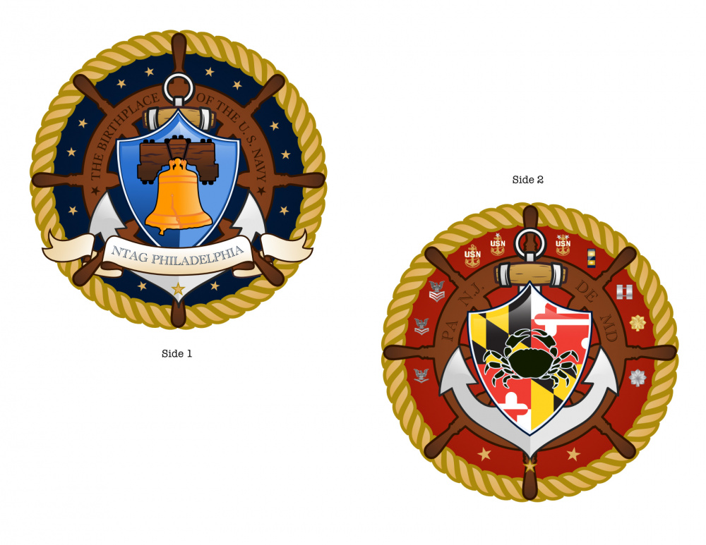 NTAG Philadelphia command coin design
