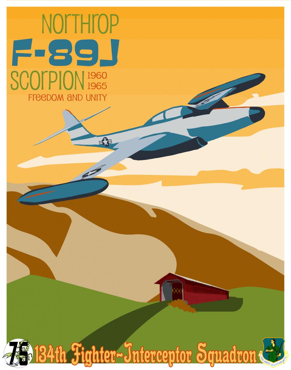 134th FS Celebrates 75th Anniversary with 1960s Artwork