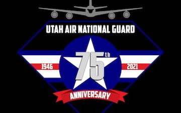 Utah Air National 75th Anniversary logo