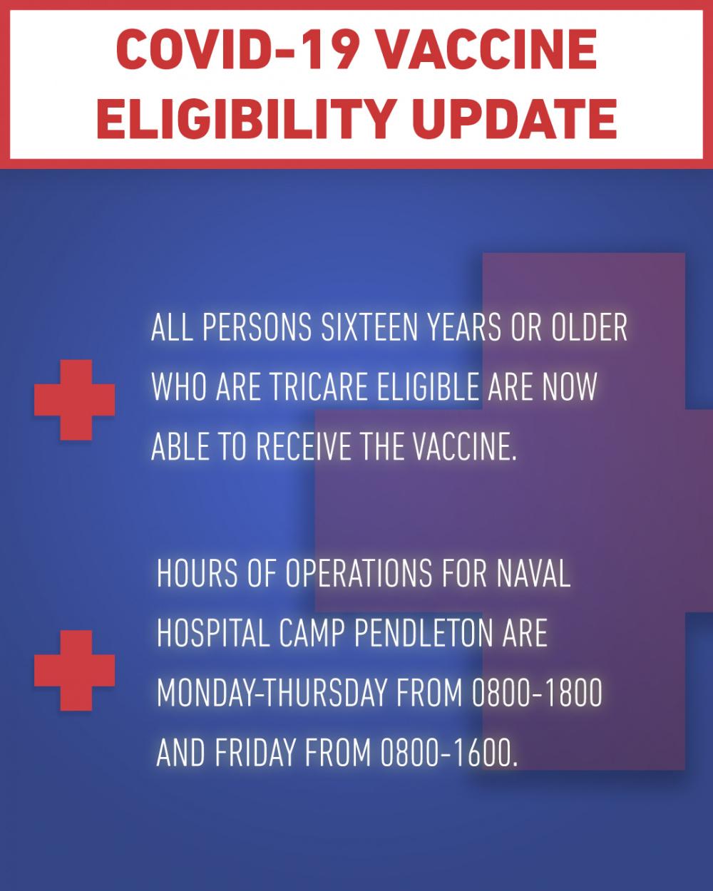 COVID-19 Vaccine Eligibility Update
