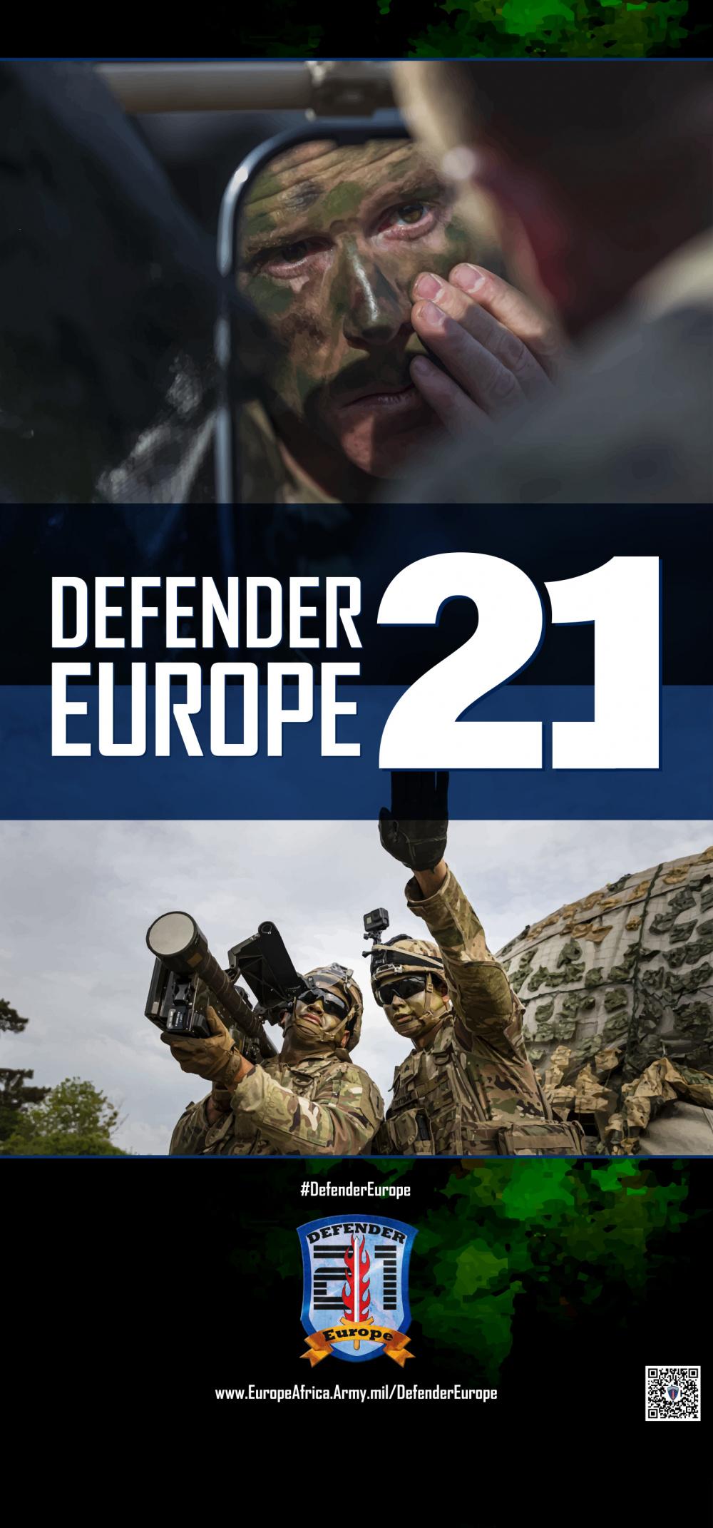 DEFENDER-Europe 21 life-size pop-up poster