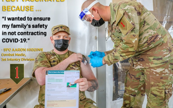 1ID Soldier Shares Why He's COVID-19 Vaccinated