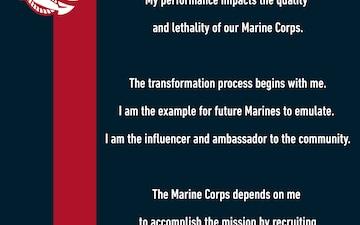 The Marine Recruiter's Creed