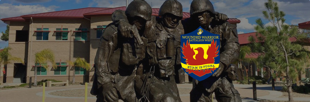 Wounded Warrior Battalion - West Hero Banner Statue