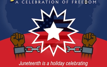 Juneteenth, a celebration of Freedom Day graphic